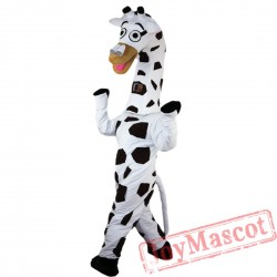 Black And White Spotted Zebra Mascot Costume for Adult