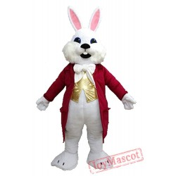 White Easter Bunny Rabbit Mascot Costume for Adult