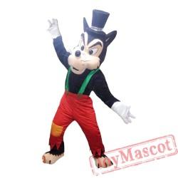 Black Bad Wolf Animal Mascot Costume for Adult