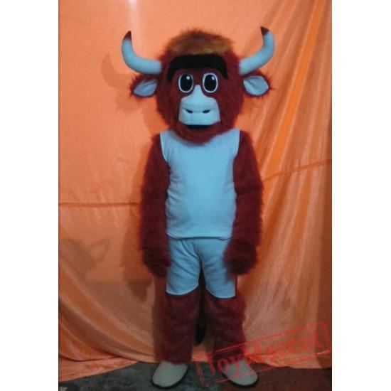 Bull Mascot Costume Adult Cartoon Character Costume