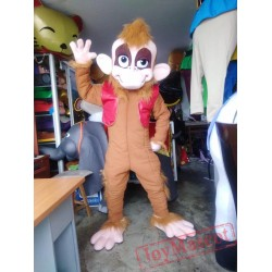 Abu Monkey Aladdin Mascot Costume Adult For Sale