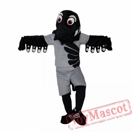Black Bird Eagle Sport Mascot Costume  for Adult