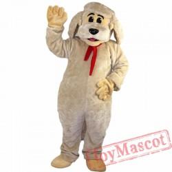 Beige Dog Mascot Costume for Adult