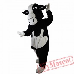 Black And White Cow Mascot Costume  for Adult