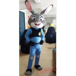Zootopia Judy Rabbit Mascot Costume for Adult