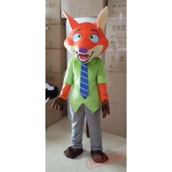 Zootopia Nick Fox Mascot Costume for Adult