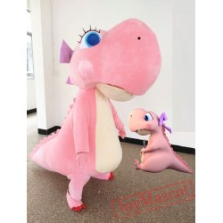 Pink Dinosaur Mascot Costume for Adult