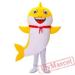 Yellow Baby Shark Mascot Costume for Adult