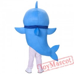 Blue Baby Shark Mascot Costume for Adult