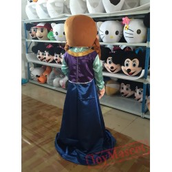 Frozen Anna Princess Mascot Costume for Adult