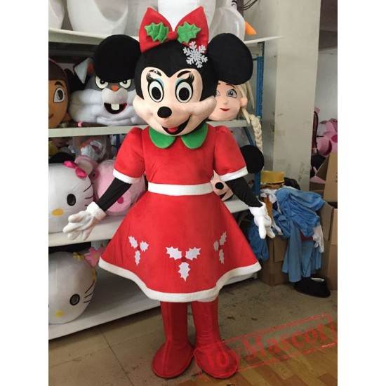 Disney Christmas Mickey Mouse Mascot Costume for Adult