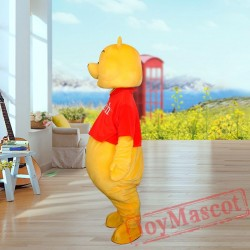 Winnie The Pooh Mascot Costume for Adult