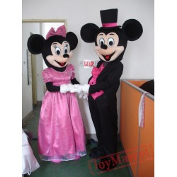 Disney Wedding Mickey / Minnie Mouse Mascot Costume for Adult