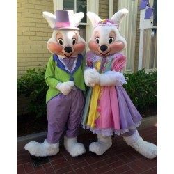 Easter Bunny Rabbit Mascot Costume for Adult