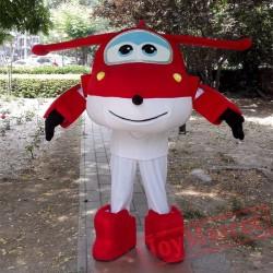Super Wings Cartoon Mascot Costume for Adults