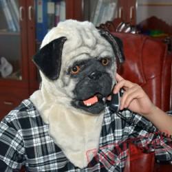 Animal Shar Pei Dog Fursuit Head Mascot Head