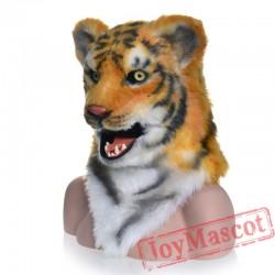 Animal White Tiger Fursuit Head Mascot Head
