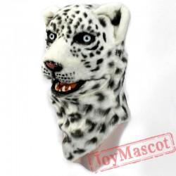 Animal White Leopard & Panther Fursuit Head Mascot Head