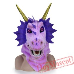 Animal Purple Dragon Fursuit Head Mascot Head