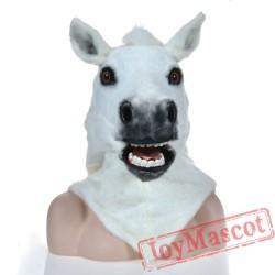Animal White horse Fursuit Head Mascot Head
