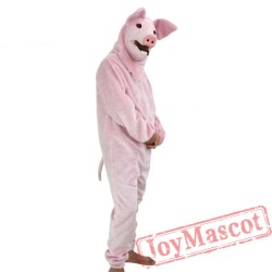 Animal Pink pig Fursuit Mascot Costume for Adult