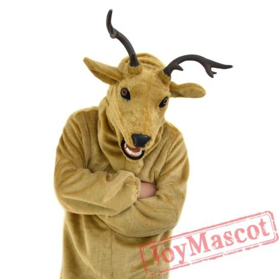 Animal Elk Fursuit Mascot Costume for Adult