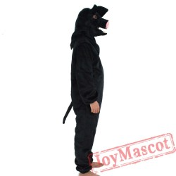 Animal Black pig Mascot Costume for Adult