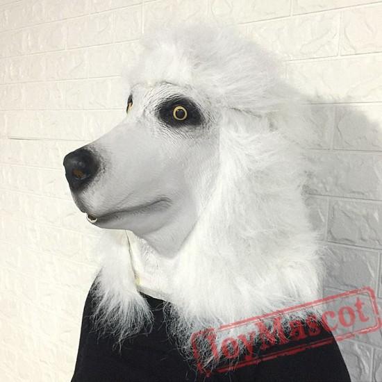 Animal Poodle dog Fursuit Head Mascot Head