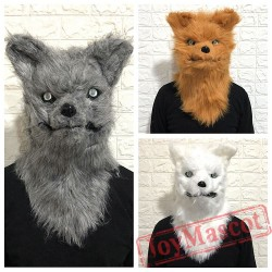 Animal Wolf Fursuit Head Mascot Head