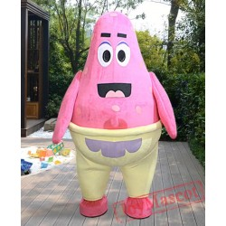 Patrick Star Cartoon Mascot Costume for Adults