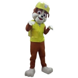Rubble Dog Paw Patrol Cartoon Mascot Costume