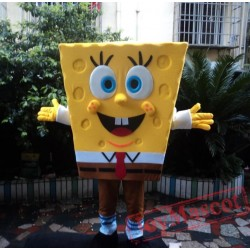 SpongeBob Cartoon Mascot Costume for Adults