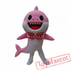 Pink Baby Shark Mascot Costume for Adults