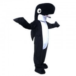 Black Shark Dolphin Mascot Costume