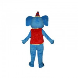 Blue Elephant Mascot Costume