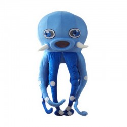 Blue Octopus Mascot Costume