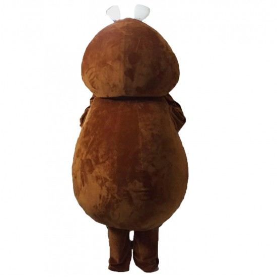 Brown Beaver Mascot Costume