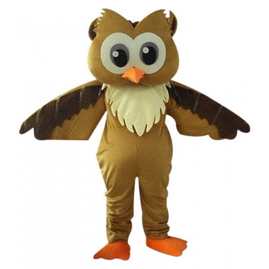 Brown Owl Mascot Costume