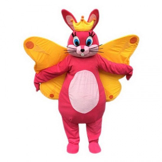 Butterfly Bunny Mascot Costume