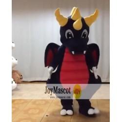 Black Dinosaur Mascot Costume