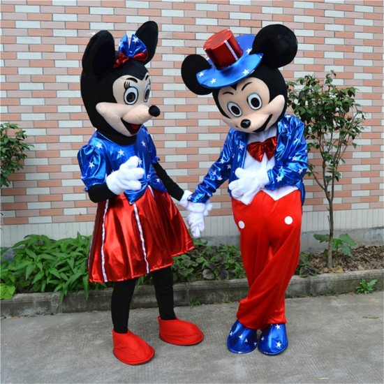 Disney Minnie & Mickey Mascot Costume for Adult