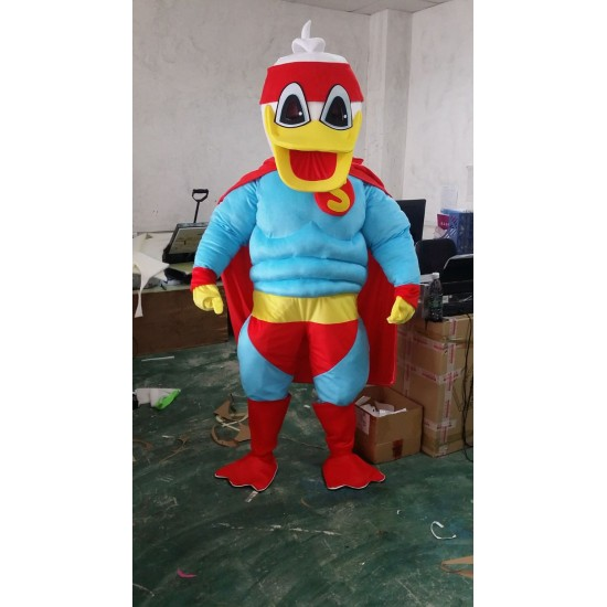 Disney Super Man Duck Mascot Costume for Adult