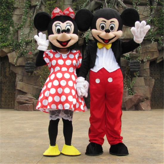 Disney Minnie Mickey Mouse Mascot Costume for Adult