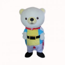 Ehite Bear Mascot Costume