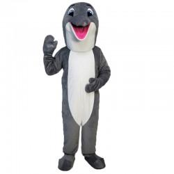 Gray Dolphin Mascot Costume