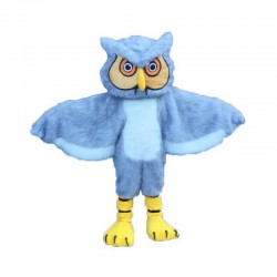 Gray Long-Haired Owl Mascot Costume