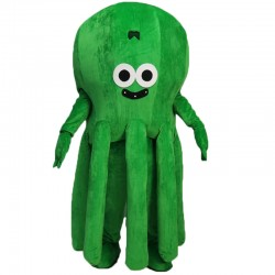 Green Octopus Mascot Costume