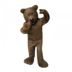 High Quality Plush Brown Bear Mascot Costume