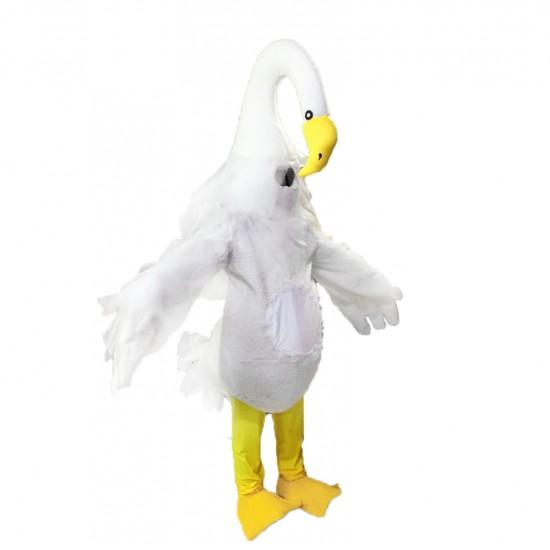 Long Necked Swan Mascot Costume
