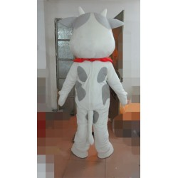 Grey Spots Cow Mascot Costume